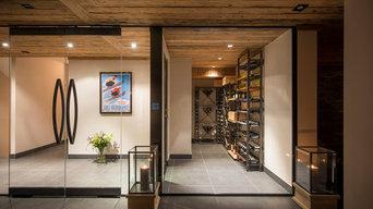 Luxury Ski Chalet Wine Cellar
