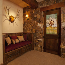 Rustic Wine Cellar by Lynne Barton Bier - Home on the Range Interiors