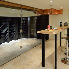 contemporary wine cellar by Sisters in Sync Design