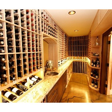 Mahogany Wine Racks and Custom Wine Cellar Doors