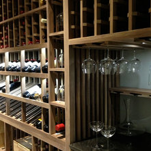 Contemporary Wine Cellar by Cabinet by Design
