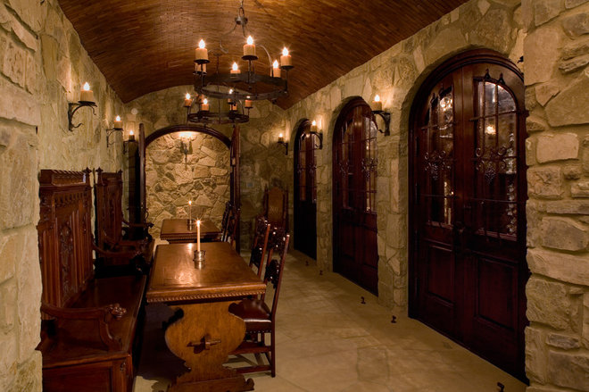 traditional wine cellar by Cravotta Interiors