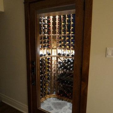 Manotick rustic wine cellar