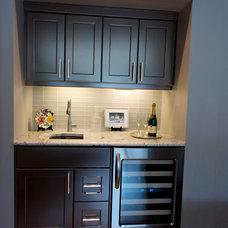 Contemporary Wine Cellar by Delton Cabinets