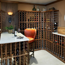 Beach Style Wine Cellar by Terrat Elms Interior Design
