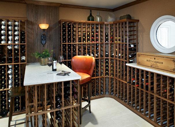 Beach Style Wine Cellar by Terrat Elms Interior Design