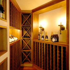 Traditional Wine Cellar by Sutton Suzuki Architects