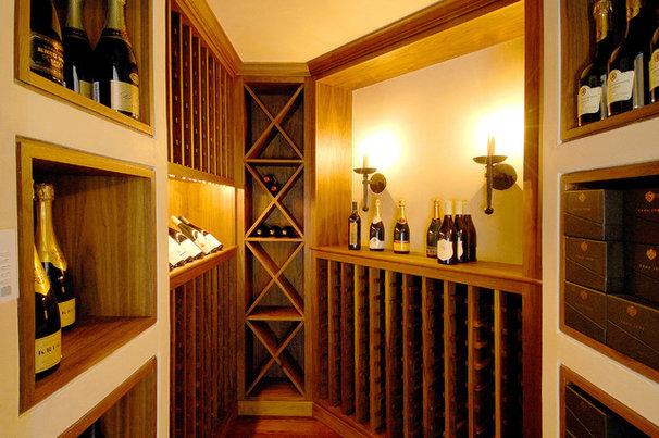 Traditional Wine Cellar by Sutton Suzuki Architects