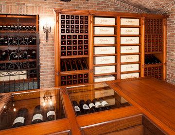 Massive Hand-carved Wine Cellar.