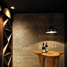 Contemporary Wine Cellar by Erica Winterfield Design