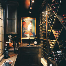 Traditional Wine Cellar by Michael Matrka, Inc
