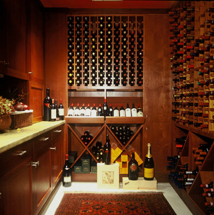 Traditional Wine Cellar by Peter Vincent Architects