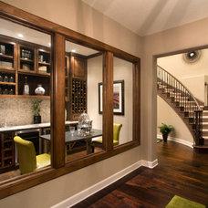 Traditional Wine Cellar by Mary DeWalt Design Group