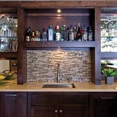 contemporary wine cellar by Martha O'Hara Interiors
