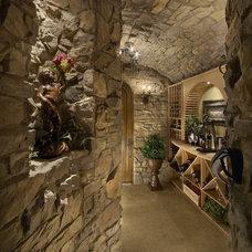Mediterranean Wine Cellar by Gina Spiller Design