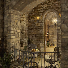Mediterranean Wine Cellar by Gina Spiller Design