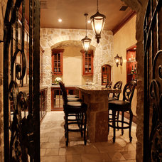Mediterranean Wine Cellar by Barbara Gilbert Interiors