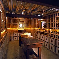 mediterranean wine cellar by JMA (Jim Murphy and Associates)