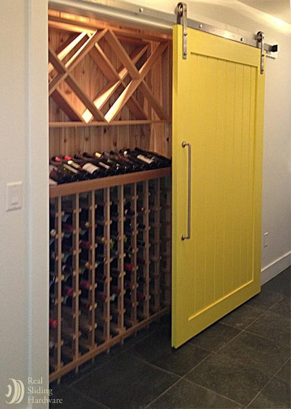 Mediterranean Wine Cellar by Real Sliding Hardware