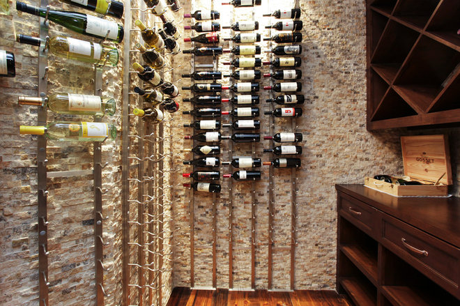 Traditional Wine Cellar by Brickmoon Design