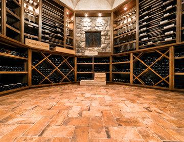 Mendham NJ Black Walnut Wine Room