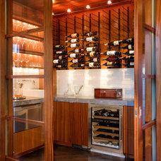 Contemporary Wine Cellar by Dick Clark + Associates