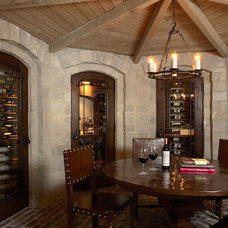 Traditional Wine Cellar by Martha O'Hara Interiors