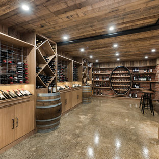 Country wine cellar in Geelong with concrete floors and diamond bins.