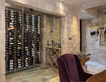 Metal/Wood Wine Cellar