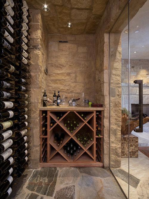 Traditional wine cellar design ideas renovations photos for Wine cellar flooring options