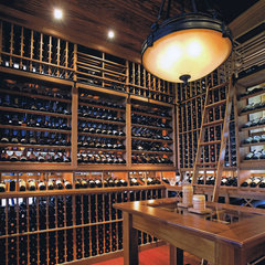 traditional wine cellar by Current Concepts Home Automation