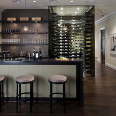 Modern Wine Cellar by Michael Molthan Luxury Homes Interior Design Group