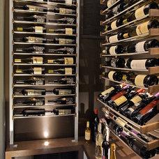 Contemporary Wine Cellar by Millesime wine racks