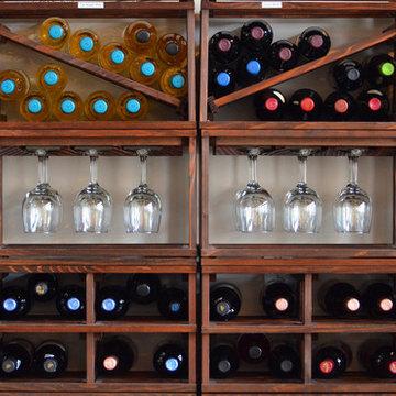 Mini Stackable Wine Racks in a Chocolate Bar