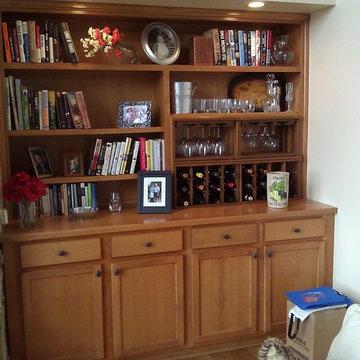 Mini Stackable Wine Racks in Great Room