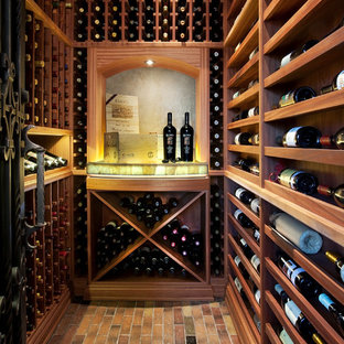 Small tuscan wine cellar photo in Phoenix