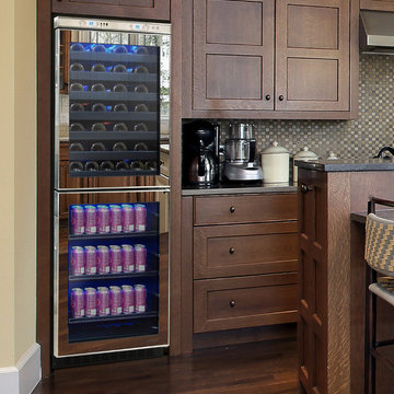 Mirrored Touch Screen Wine and Beverage Cooler