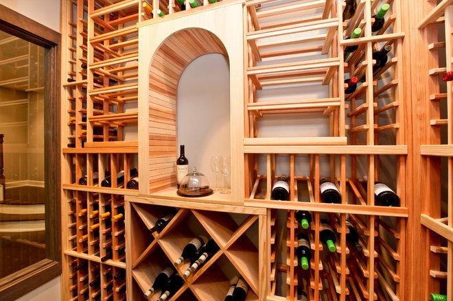 Modern Wine Cellar by REFINED LLC