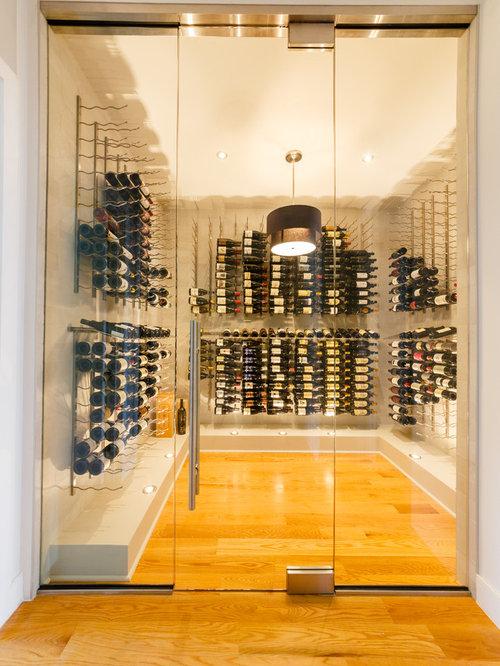 Designer Frameless Glasses Wine Cellar Design Ideas