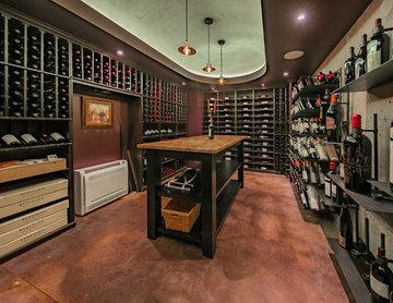 Modern Industrial Wine Cellar