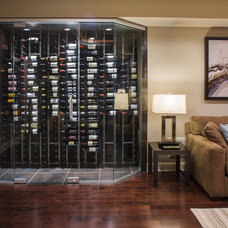 Contemporary Wine Cellar by Creative Design Construction, Inc.
