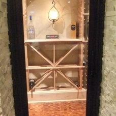 Contemporary Wine Cellar by Lina Crawford Interior Design