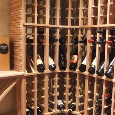 Traditional Wine Cellar by Lina Crawford Interior Design