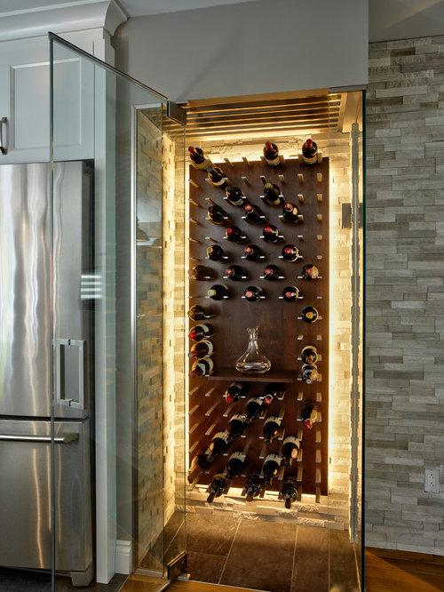 photos et id es d co de caves vin modernes avec un sol. Black Bedroom Furniture Sets. Home Design Ideas