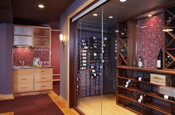 Modern Wine Cellar by Point One Architects
