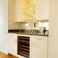 Modern Wine Cellar by Baroni Building Company