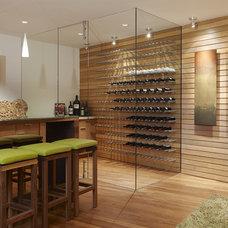 Contemporary Wine Cellar Modern Wine Cellar