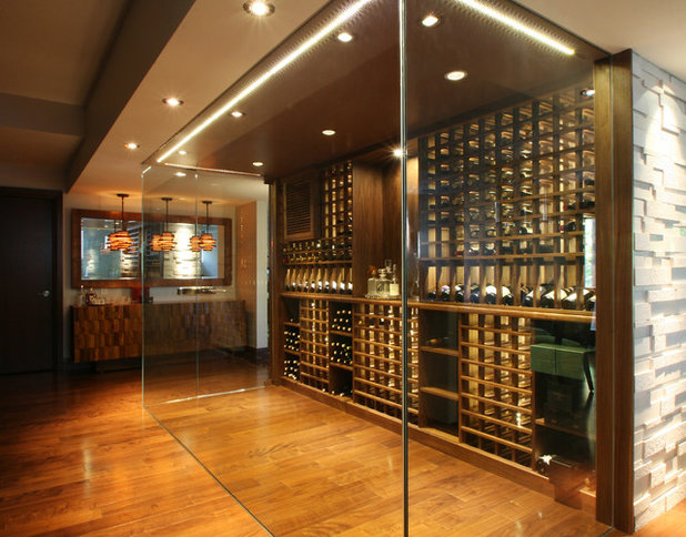 Modern Wine Cellar by Papro Wine Cellars & Consulting