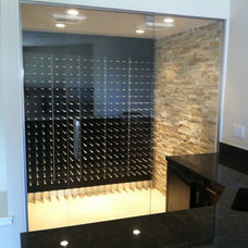 Modern Wine Cellar by STACT Wine Displays Inc.