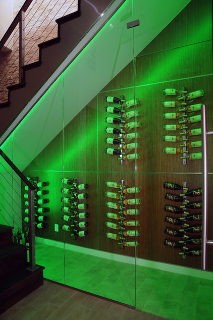 Modern Wine Cellar by DTM INTERIORS
